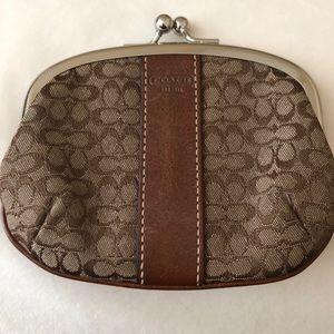 Brown Coach change purse